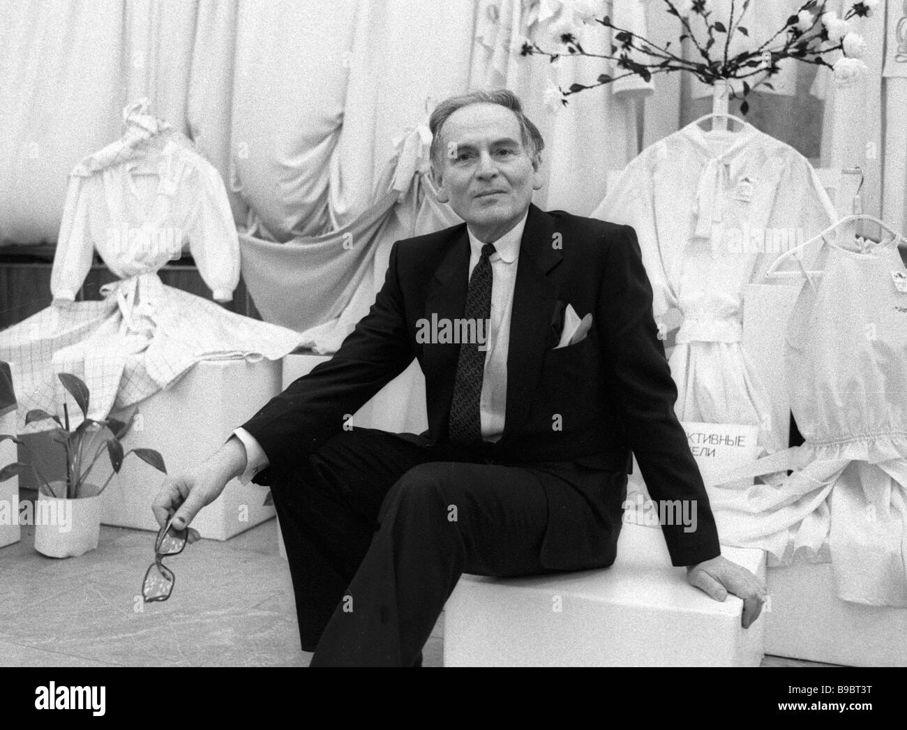 Pierre Cardin renowned fashion designer - Stock Image