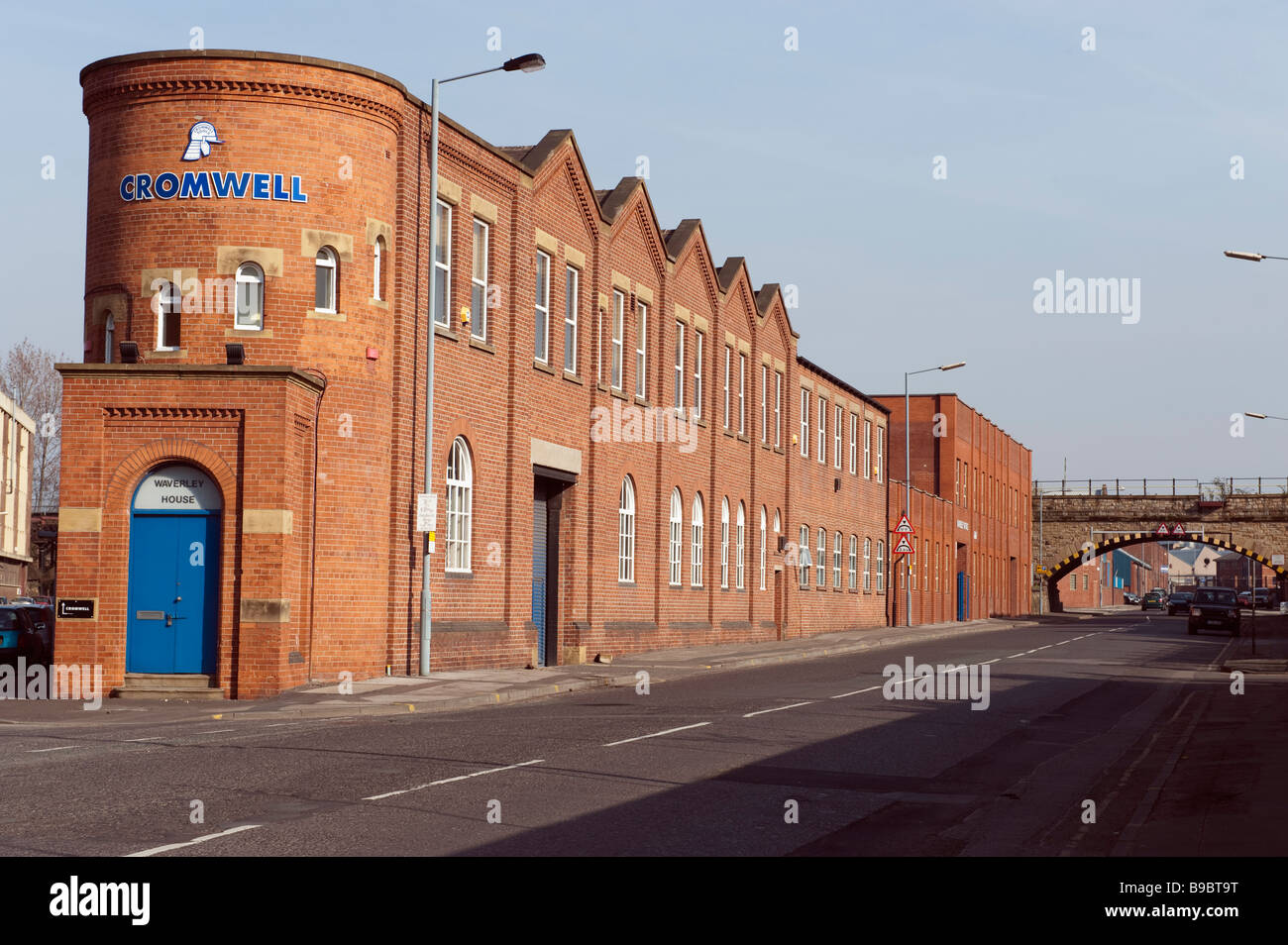 a round ended red brick building on Effingham Street in Sheffield, 'South Yorkshire', England, 'Great - Stock Image