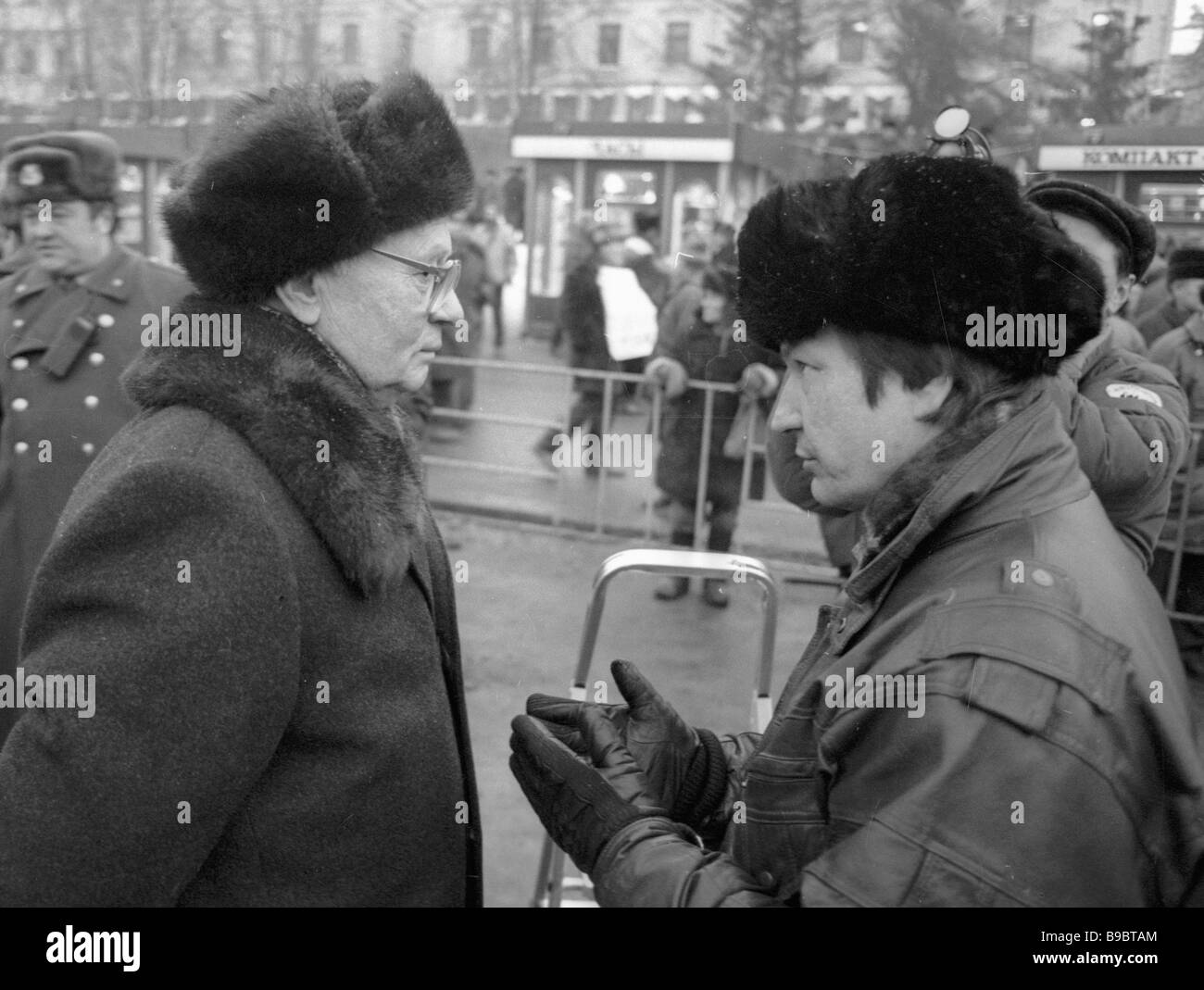 Vladimir Kryuchkov former chairman of the State Security Committee KGB left attends meeting in connection with Soviet - Stock Image