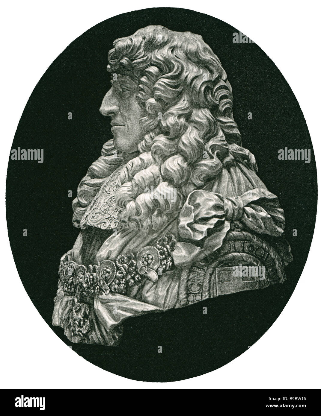 Prince Rupert of the Rhine 1619 1682 soldier inventor amateur artist mezzotint Stock Photo