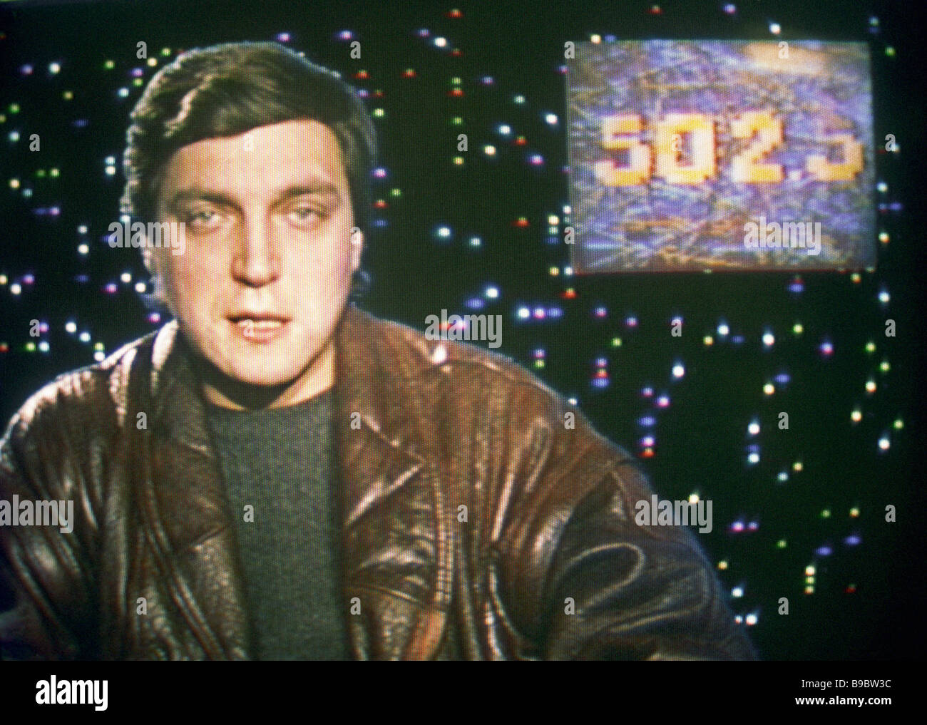 Author and host of 600 seconds television program run on Leningrad TV Alexander Nevzorov - Stock Image
