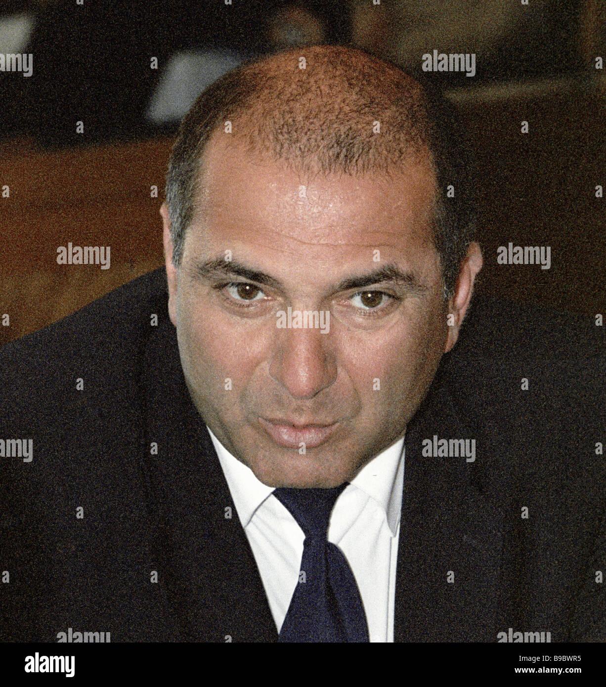 President of the Russian Bank Association Garegin Tosunyan - Stock Image