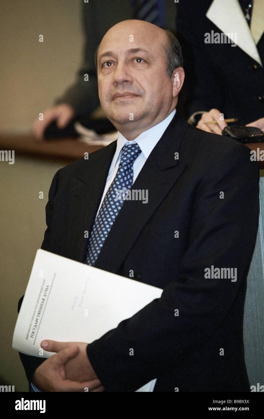 Russian Foreign Minister Igor Ivanov - Stock Image