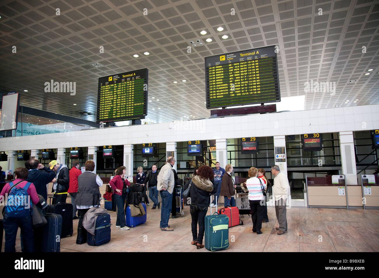 Terminal Barcelona Airport, Spain - Stock Image