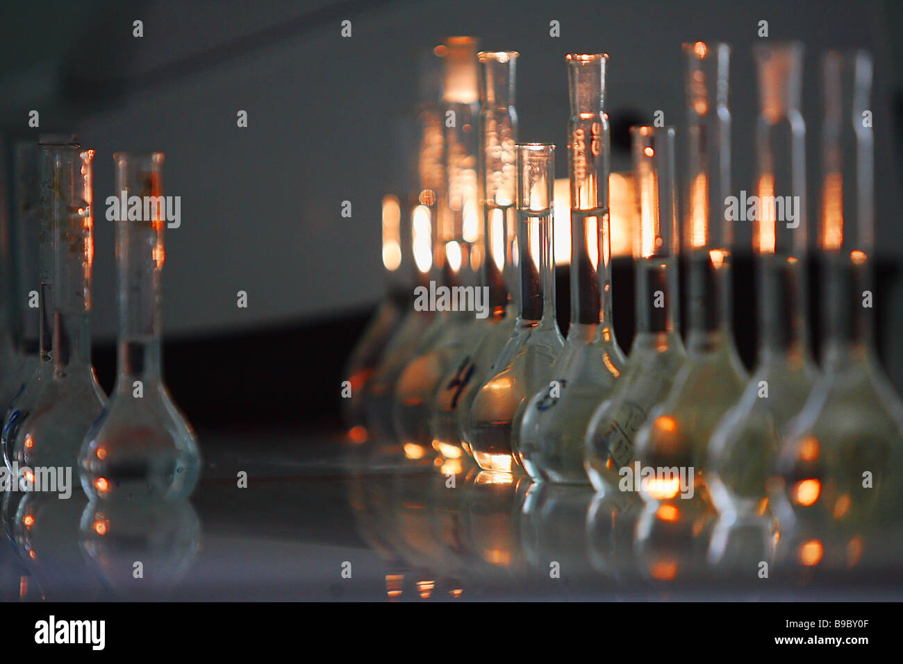 In the Novosibirsk Chemical Concentrate Works central chemical laboratory - Stock Image