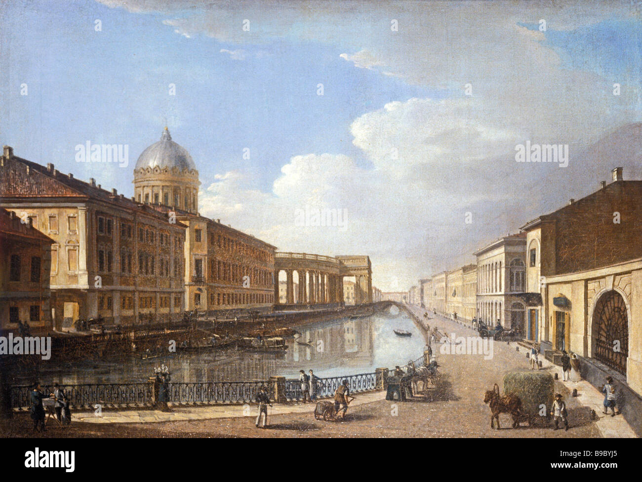 Timofei Vasilyev The Kazan Cathedral as Seen from the Catherine Canal Late 1810s - Stock Image