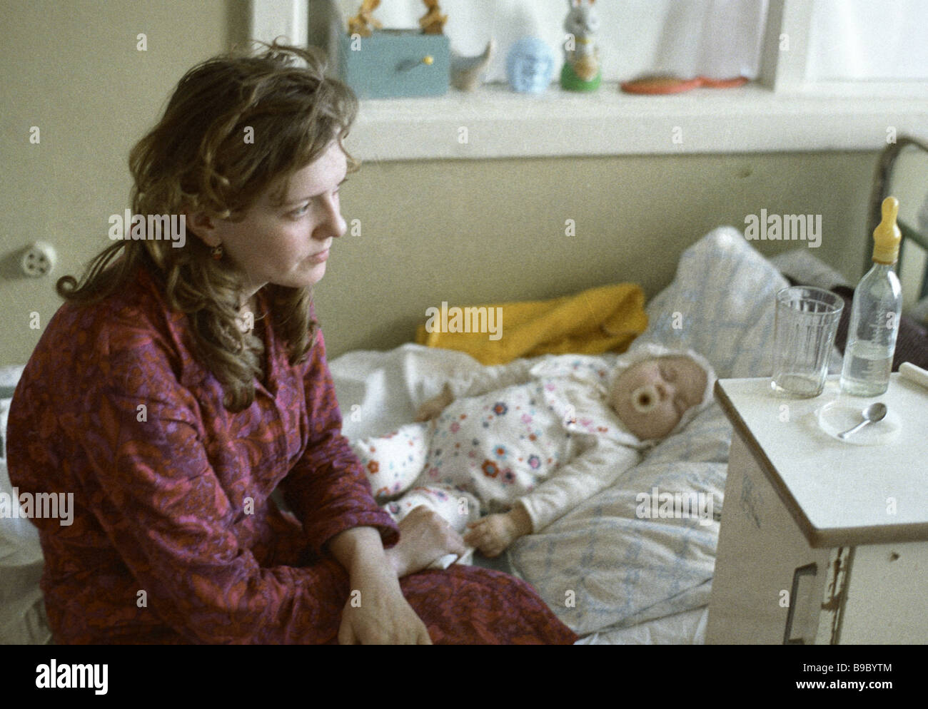Victims of the Chernobyl disaster at the children s hematological unit at Clinical Hospital 1 in Minsk - Stock Image
