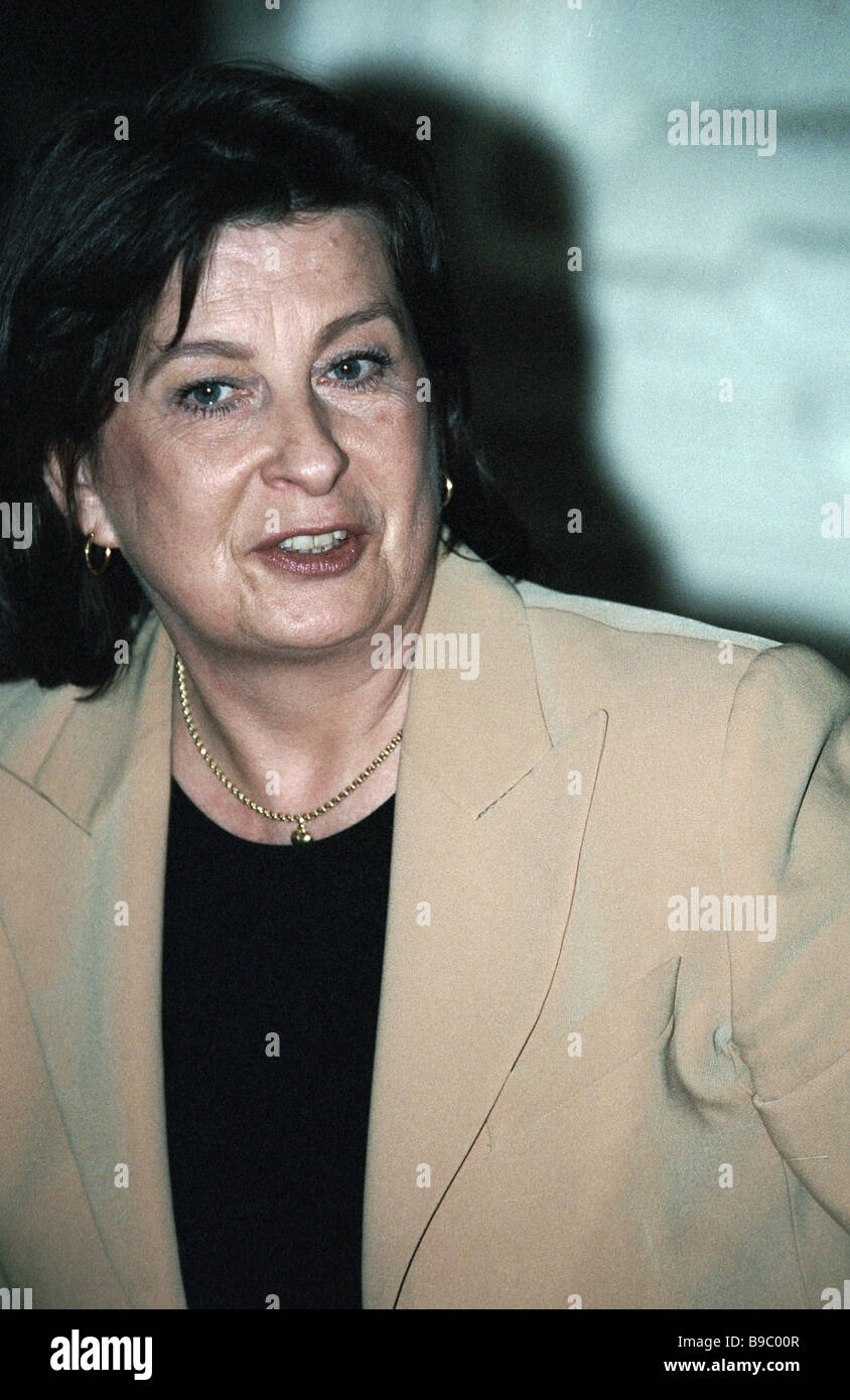 Francoise Le Bail director of the Russia Unit Directorate General for Trade European Union - Stock Image