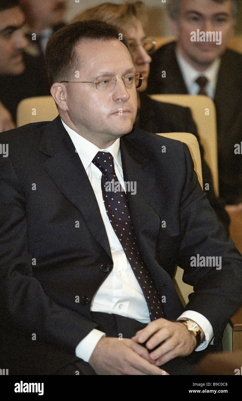 Chairman of Russian State Customs Committee Mikhail Vanin - Stock Image