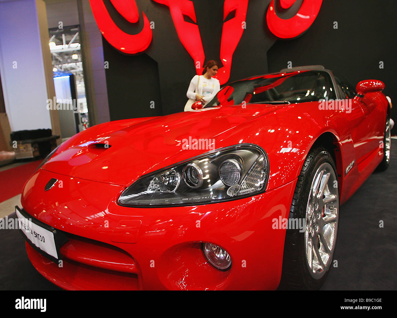 The Dodge Viper SRT 10 on display at the 2nd International Motor Show Interauto at the Crocus Expo center - Stock Image