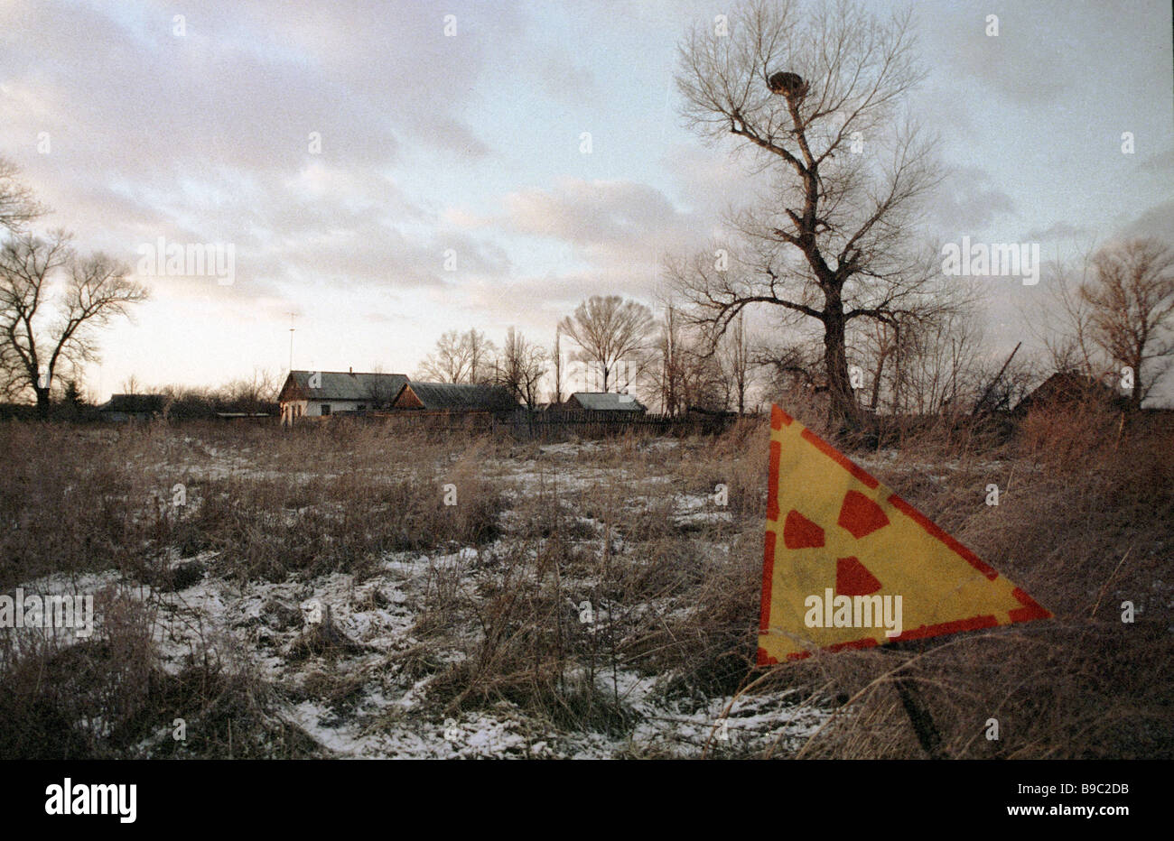 Area affected by Chernobyl nuclear disaster - Stock Image