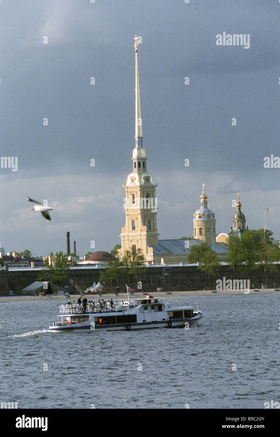 Saints Peter and Paul Fortress in St Petersburg - Stock Image