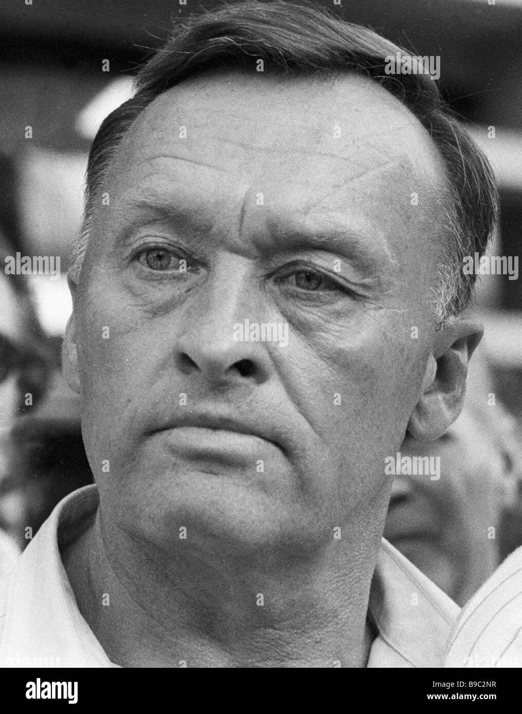 People s Deputy KGB Major General retired Oleg Kalugin - Stock Image