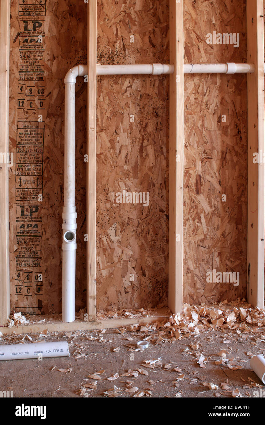 Rough plumbing in new construction Stock Photo: 23008875 - Alamy