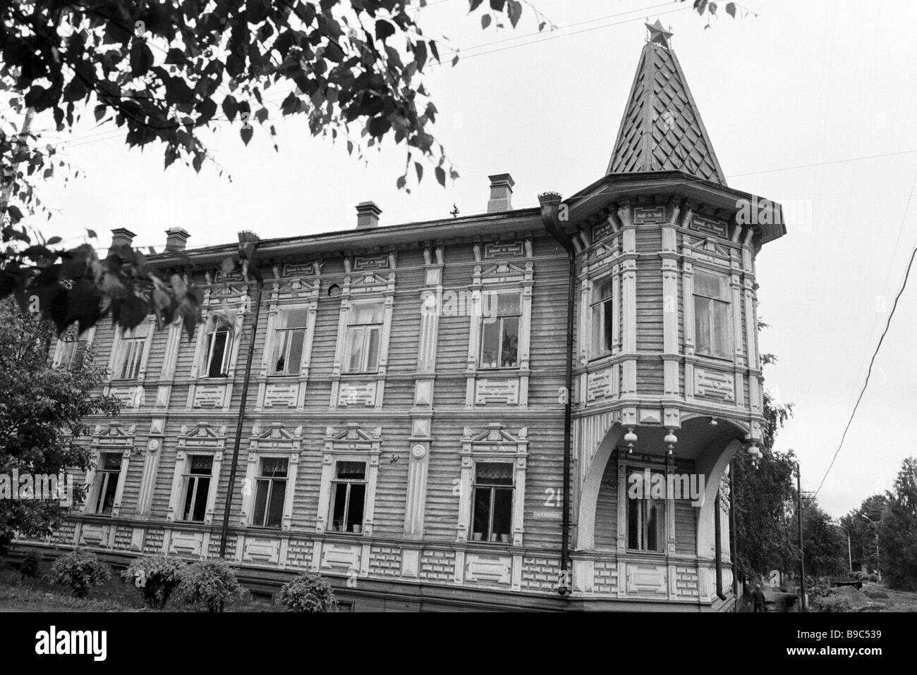 Wooden architecture relic early 20th century - Stock Image