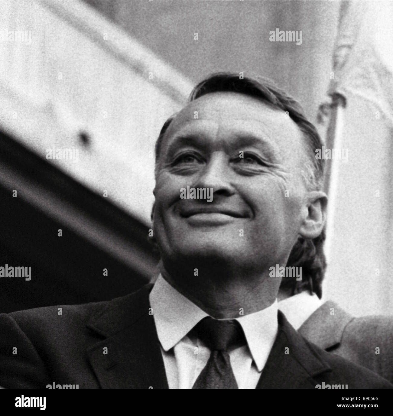 Former Soviet KGB Major General Oleg Kalugin takes part in the rally and manifestation organized by democratic forces - Stock Image