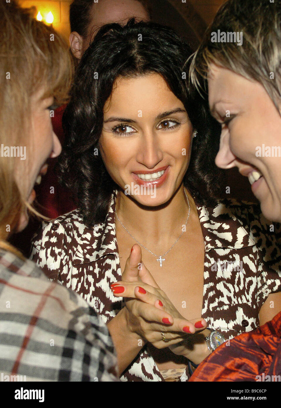 TV anchor Tina Kandelaki during the Bal des Fleurs society party Vladivostok - Stock Image