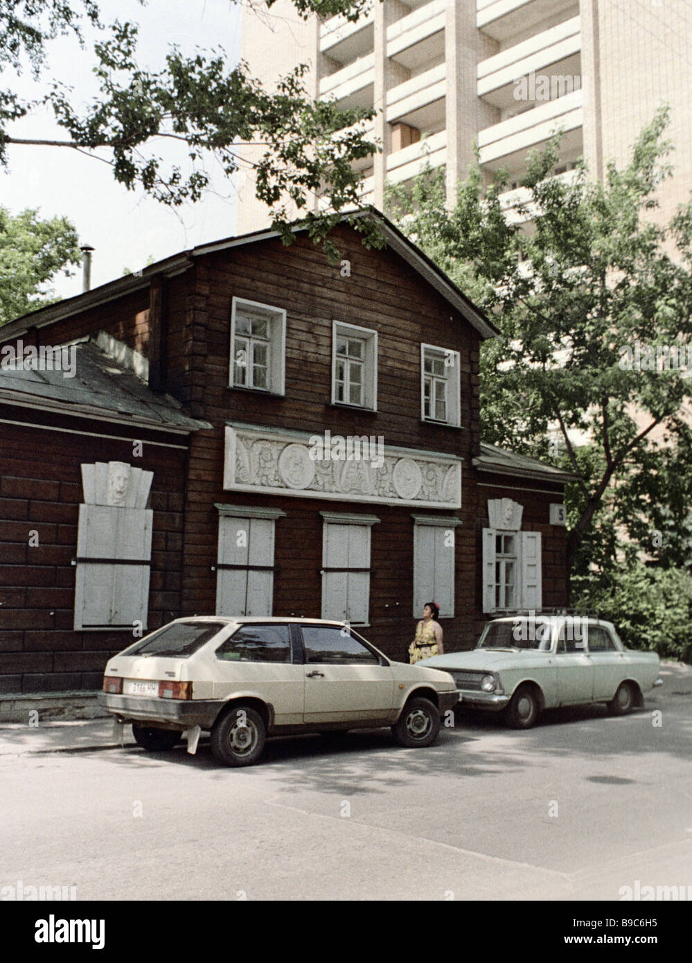 A house built in 1816 in Taneyev Street Stock Photo