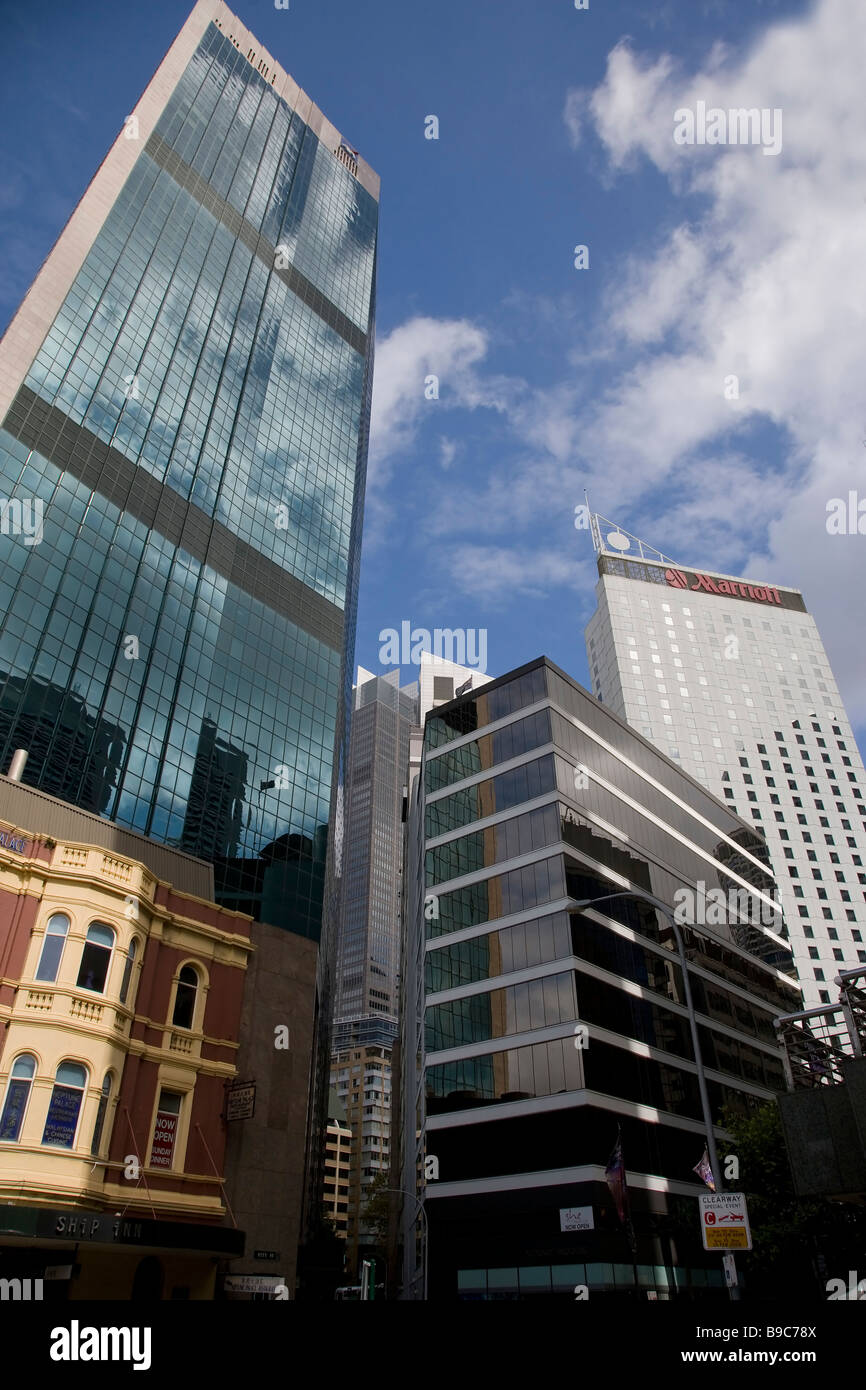 Sydney Glass Fronted Tall Buildings - Stock Image