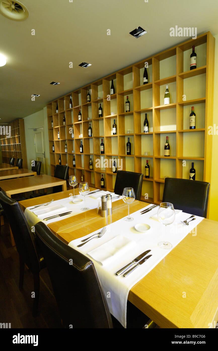 Inside the restaurant Balthazar Basel Canton Basel Stadt Switzerland - Stock Image