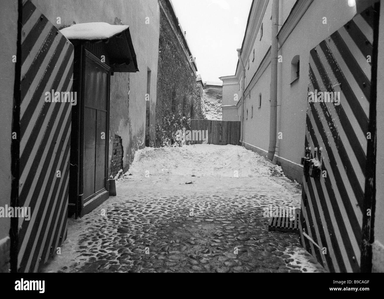Inner yard of the Trubetskoy bastion St Peter and St Paul s fortress - Stock Image