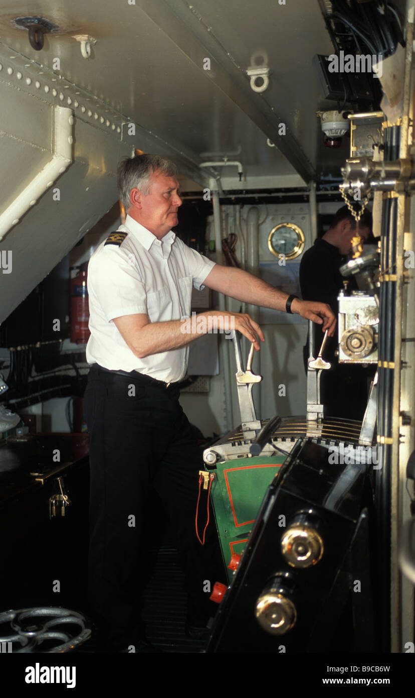 Steam Ship Engine Room: Chief Engineer In The Engine Room Of The Waverley Paddle