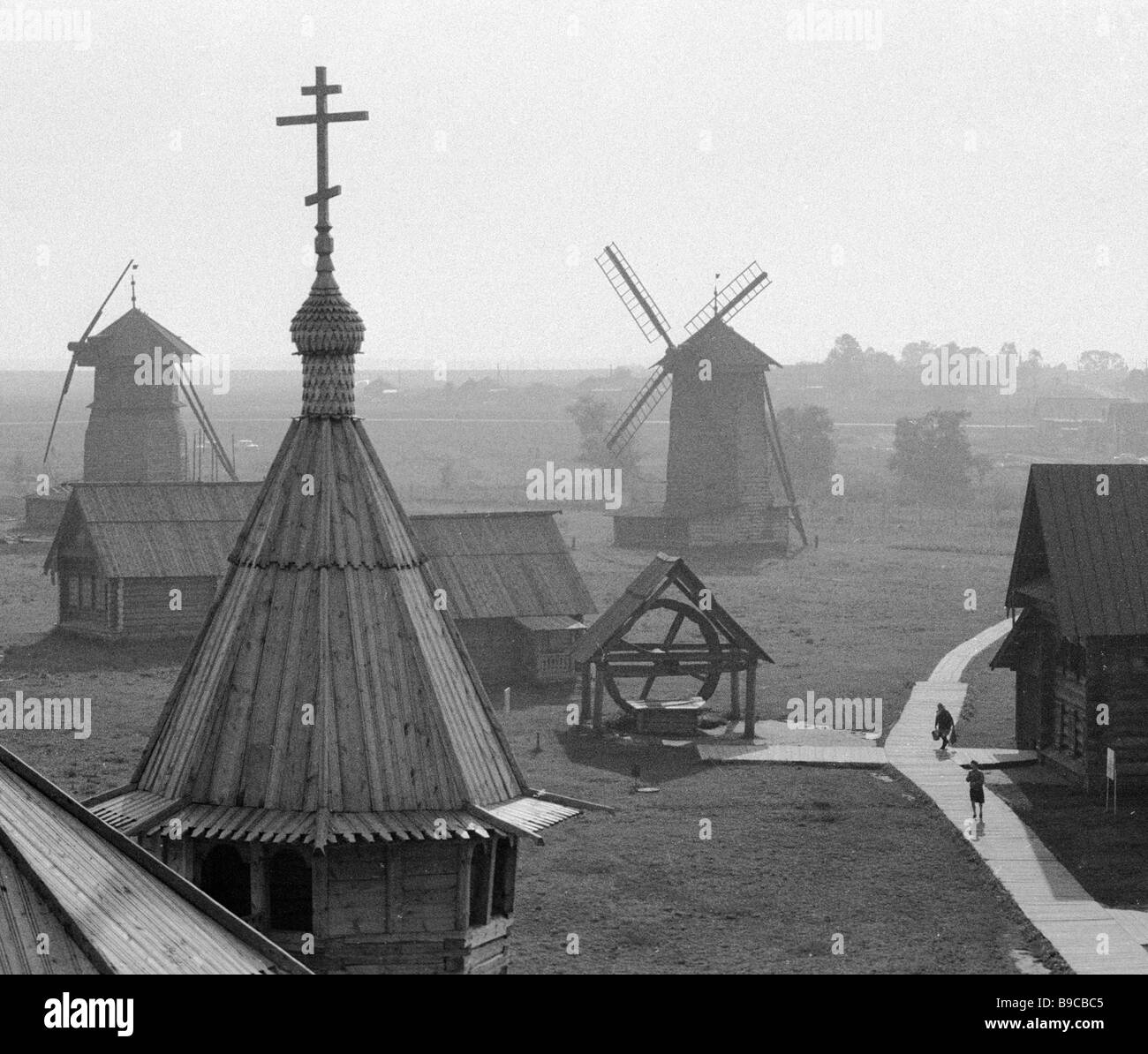 In the Suzdal open air wooden architecture museum - Stock Image