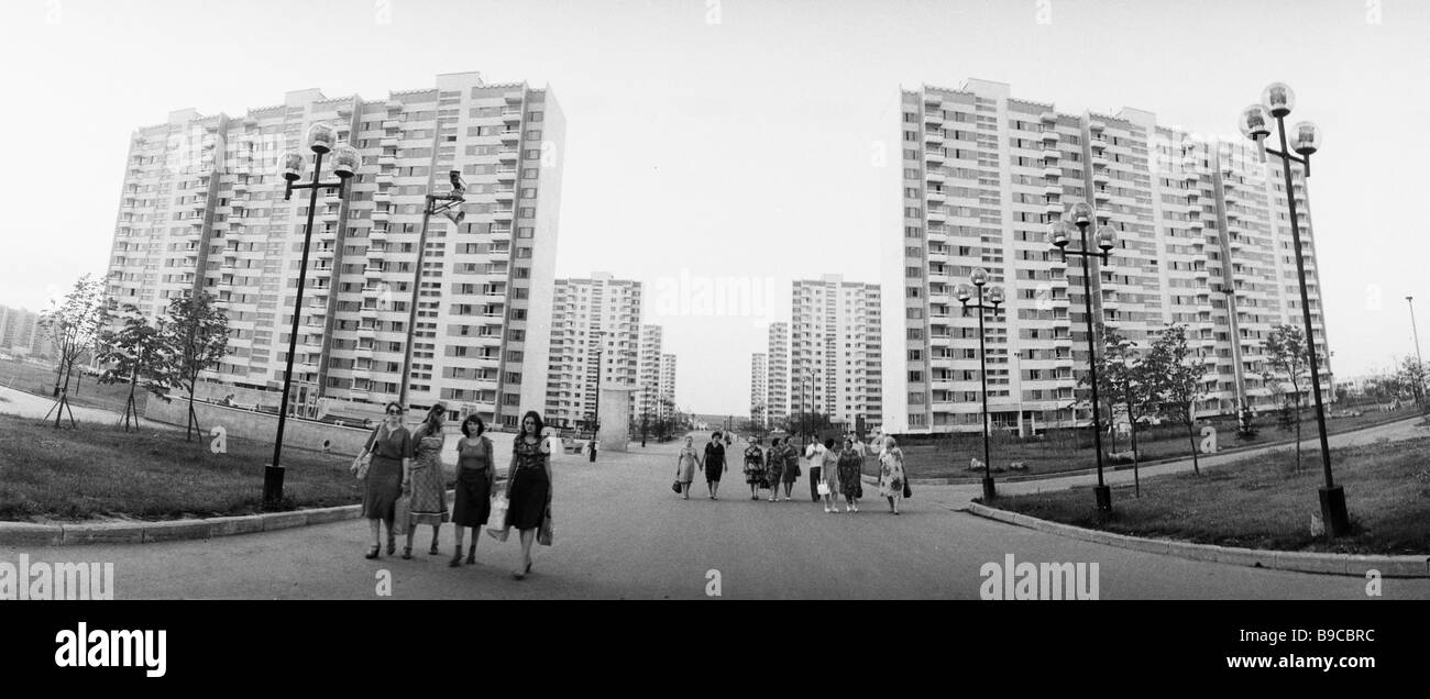 The Olympic village in Moscow - Stock Image