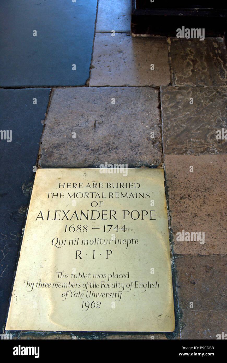 Floor Plate Marking The Burial Place Of Eighteenth Century Poet