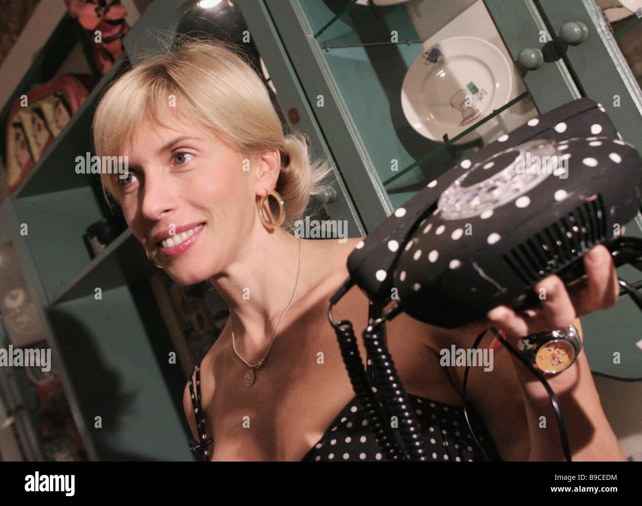 Singer Alena Sviridova at a high society party in Moscow - Stock Image