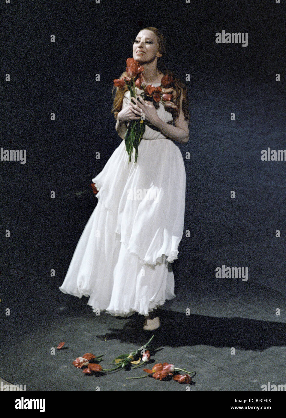 Celebrated Maya Plisetskaya greeting the audience - Stock Image