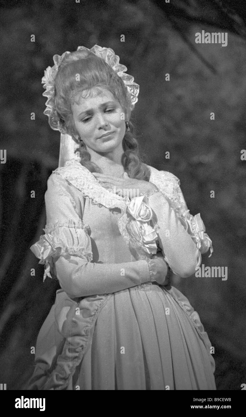 Natalia Khil as Lotta in a version of Goethe s The Sorrows of Young Werther staged at the Moscow regional youth Stock Photo