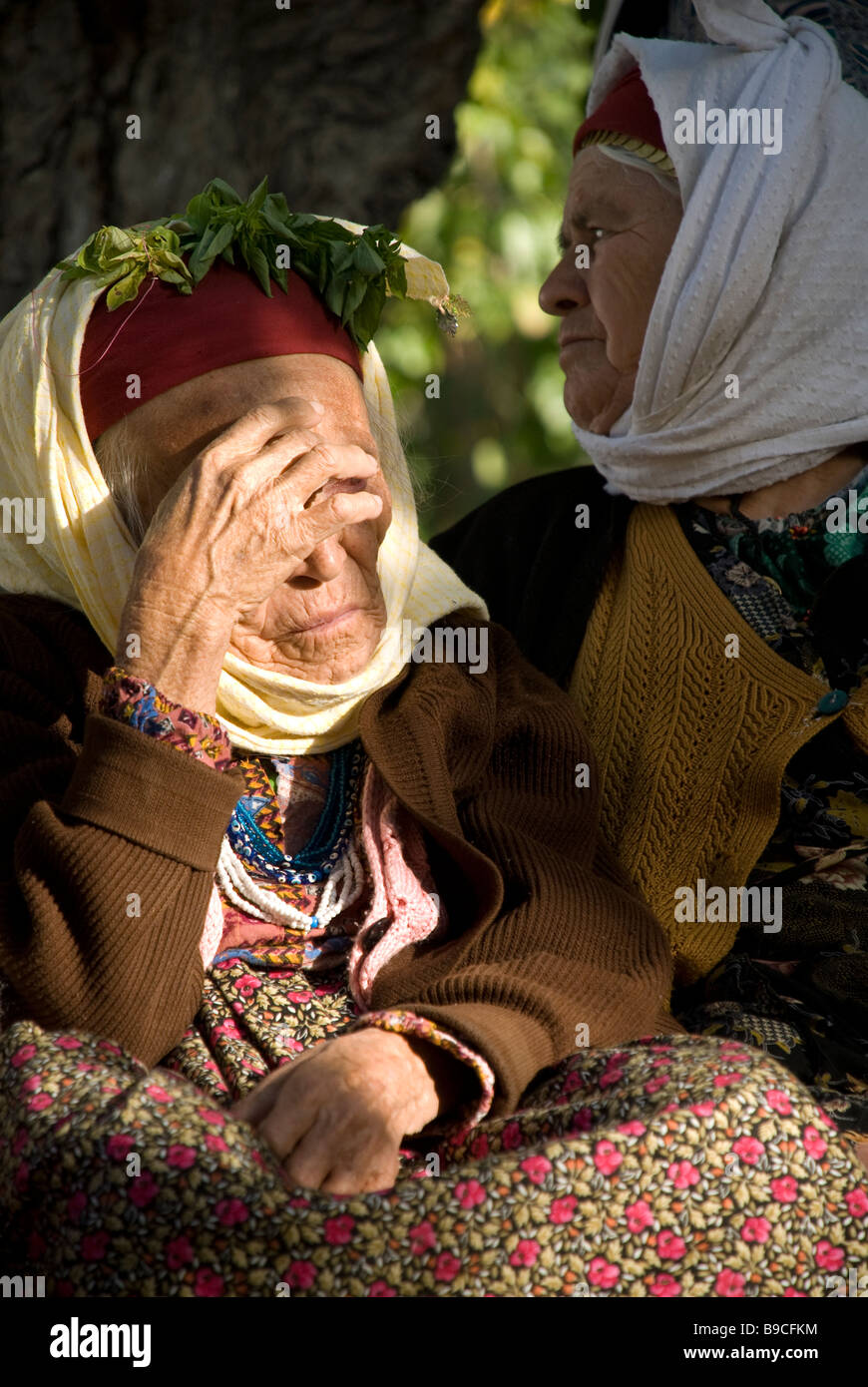 very old turkish woman - Stock Image