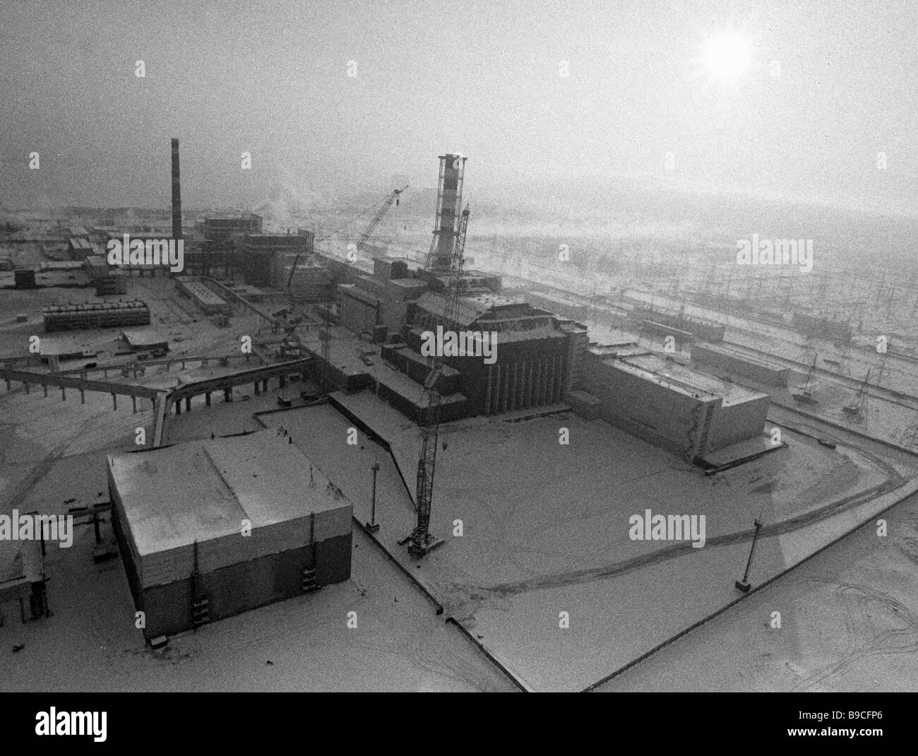 View pf Chernobyl nuclear power plant - Stock Image