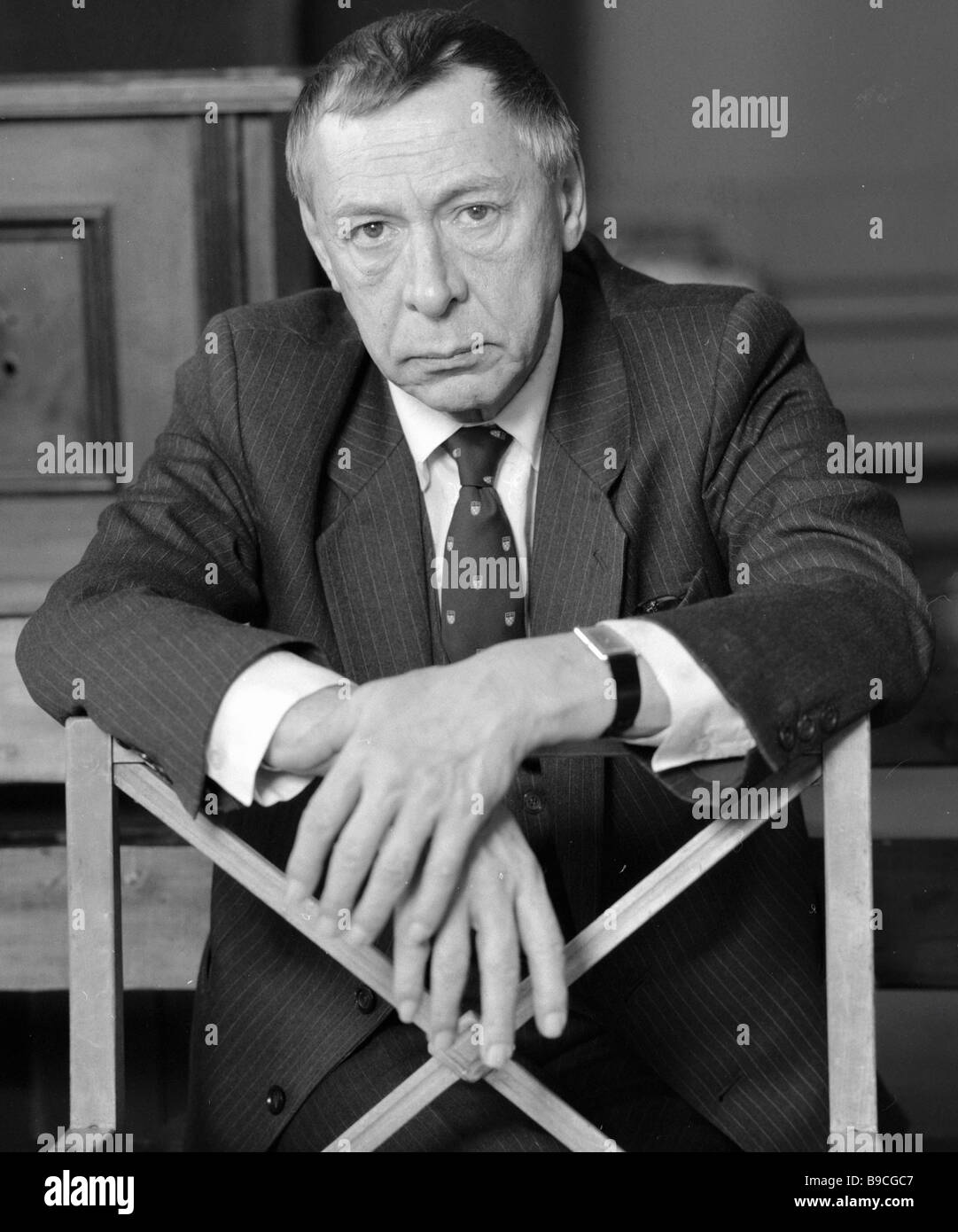 Oleg Yefremov People s Artist of the USSR principal stage director of the Moscow Gorky Academic Arts Theater MKhAT - Stock Image