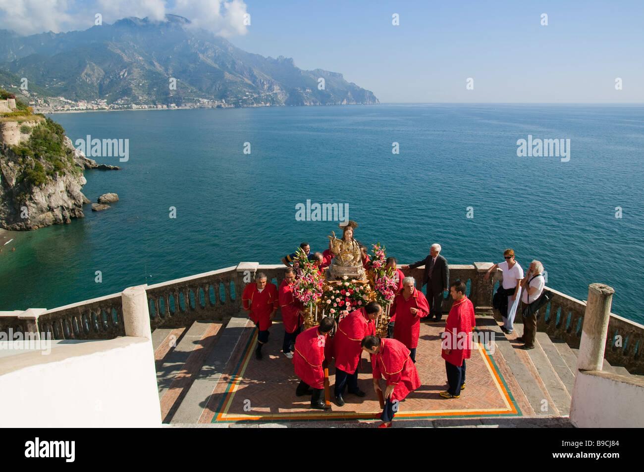 S Maria Maddalena celebrations Atrani Amalfi coast Salerno Italy Stock Photo