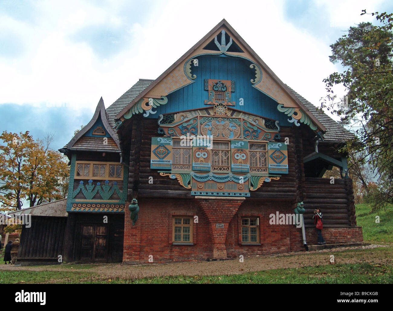 The Teremok museum of folk arts and crafts on the Talashkino estate of Princess Maria Tenisheva 1867 1928 prominent - Stock Image