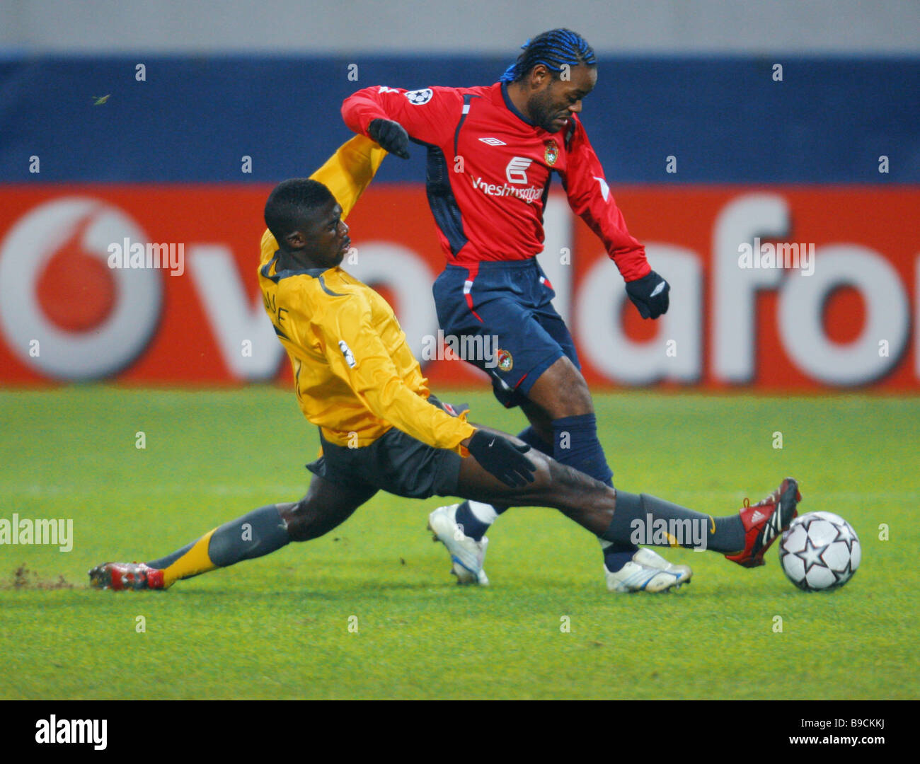 A Champions League match between CSKA Moscow and Arsenal London - Stock Image