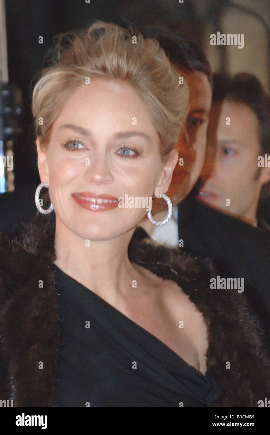 0d786f534db1 Sharon Stone attends Christian Dior boutique opening in the Central  Department Store Moscow - Stock Image
