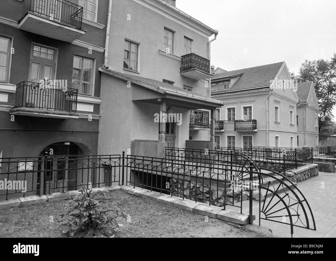 Houses in Troyetskoye suburb - Stock Image