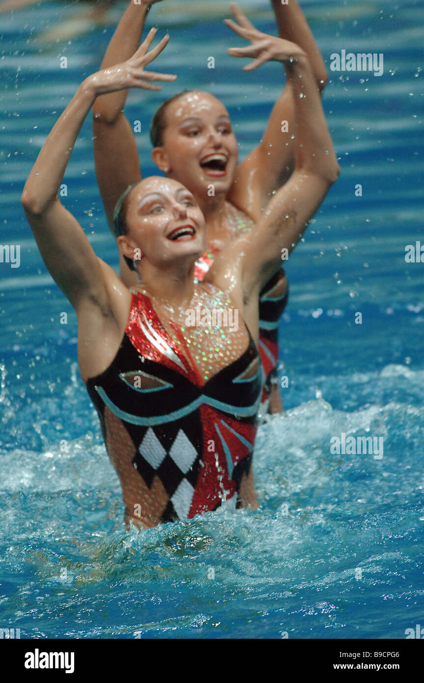 The Olympics Duet of Anastasiya Davydova and Anastasiya Yermakova - Stock Image