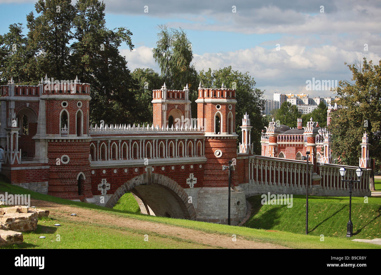 The Figured Bridge 1776 1778 architector Vasily Bazhenov Stock Photo