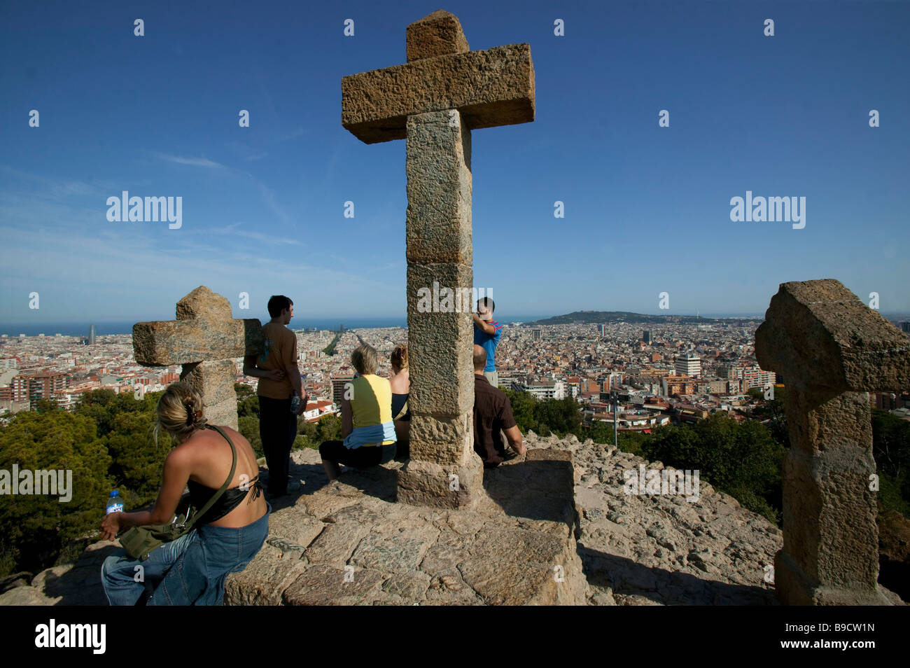 Parc Guell Antonio Gaudì  Barcelona Spain Stock Photo