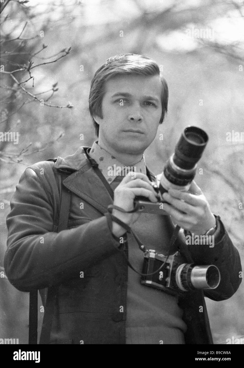 Vladimir Rodionov RIA Novosti photo correspondent 1984 - Stock Image