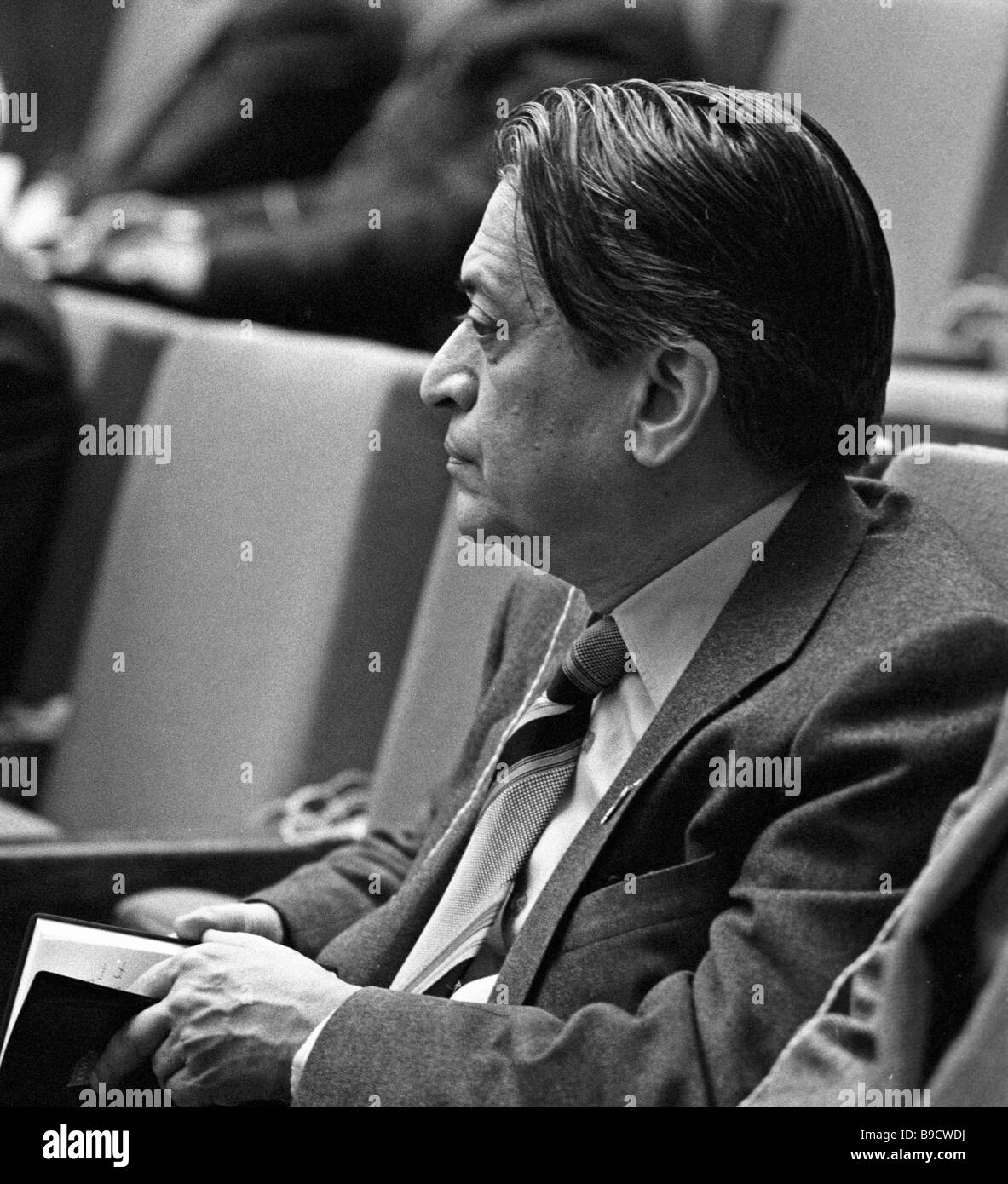 Romesh Chandra World Peace Council President in the 26th Soviet Communist Party Congress hall - Stock Image