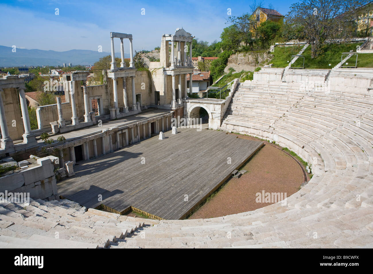 Theatre of Ancient Philippopolis roman theatre Plodviv Bulgaria Stock Photo
