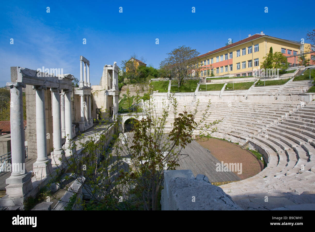 Theatre of Ancient Philippopolis roman theatre Plodviv Bulgaria - Stock Image