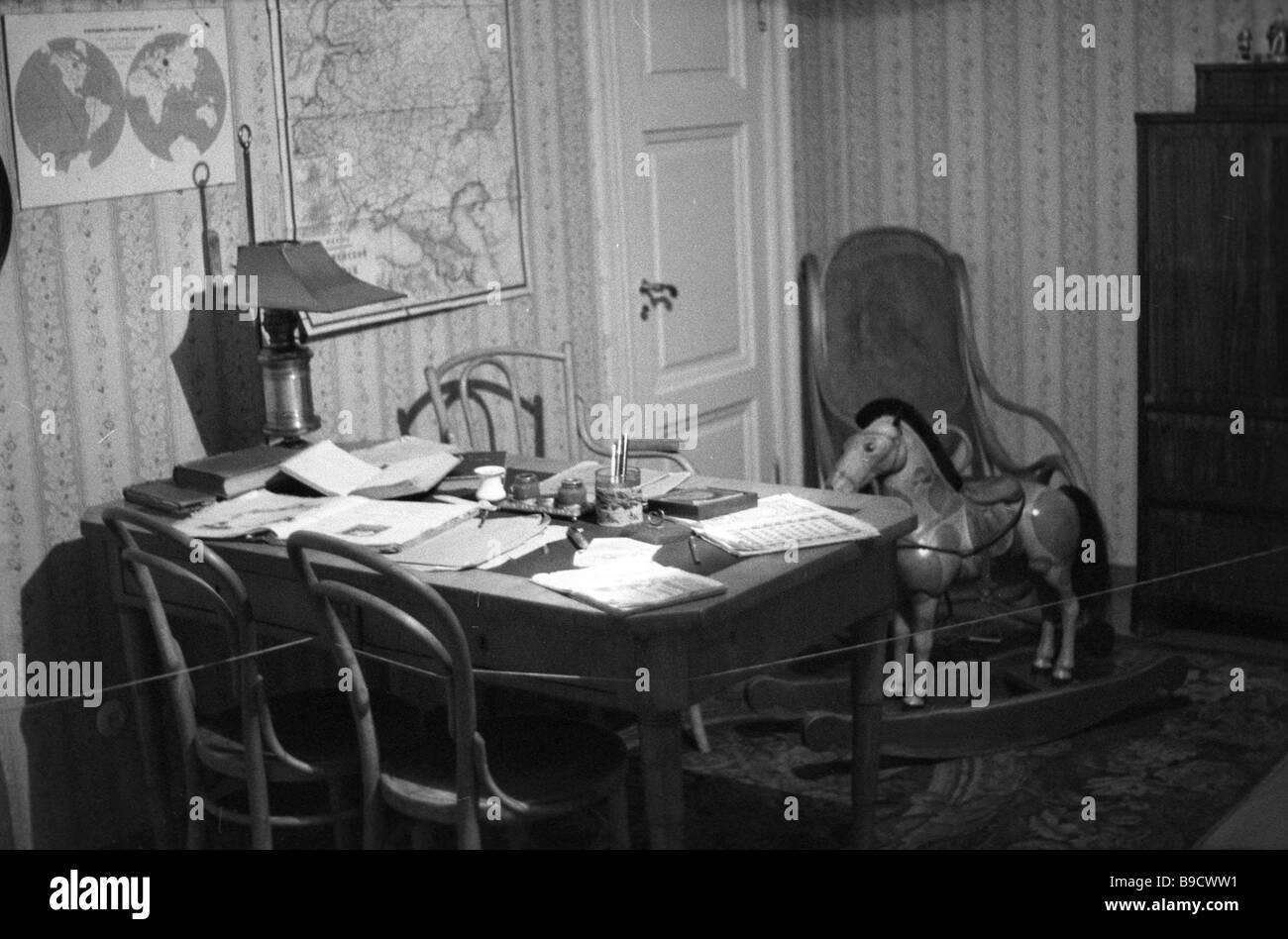 The Literary Memorial Museum of Dostoyevsky The children s room - Stock Image