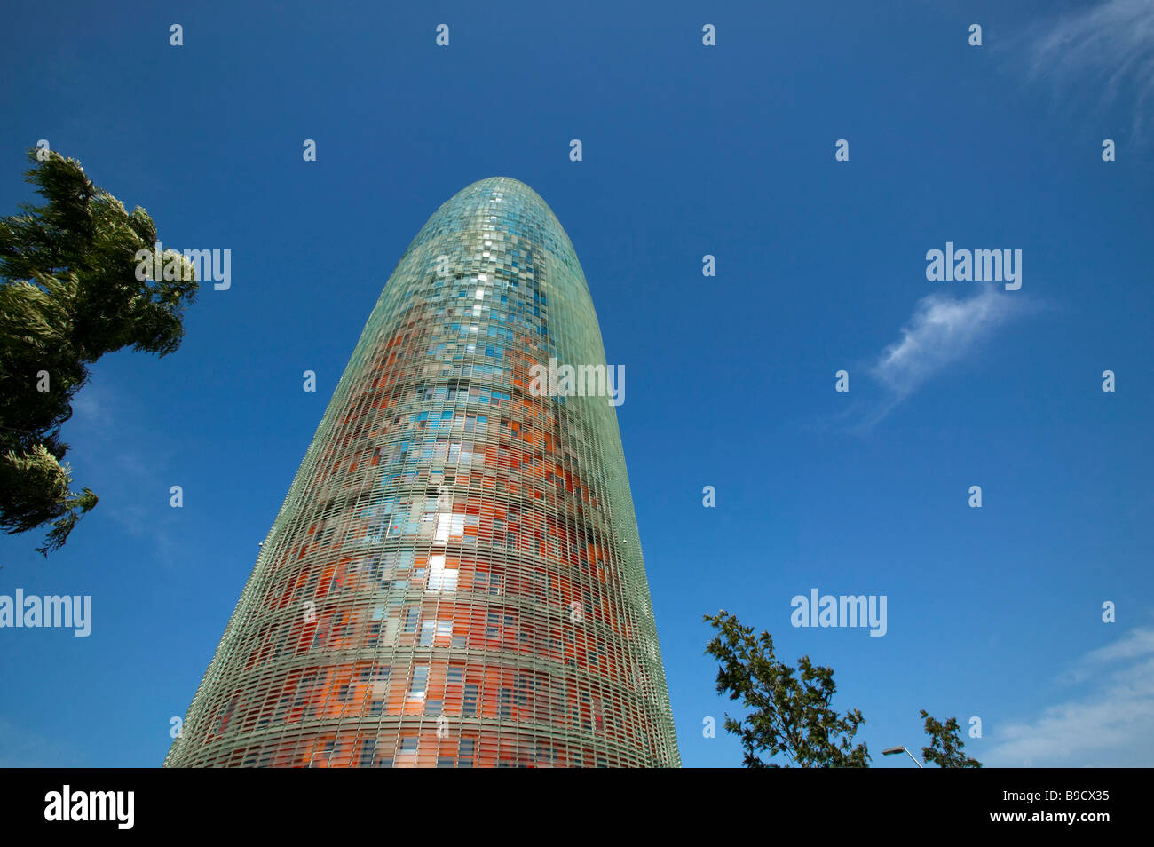 Agbar tower Jean Nouvel architect  Barcelona Spain Stock Photo