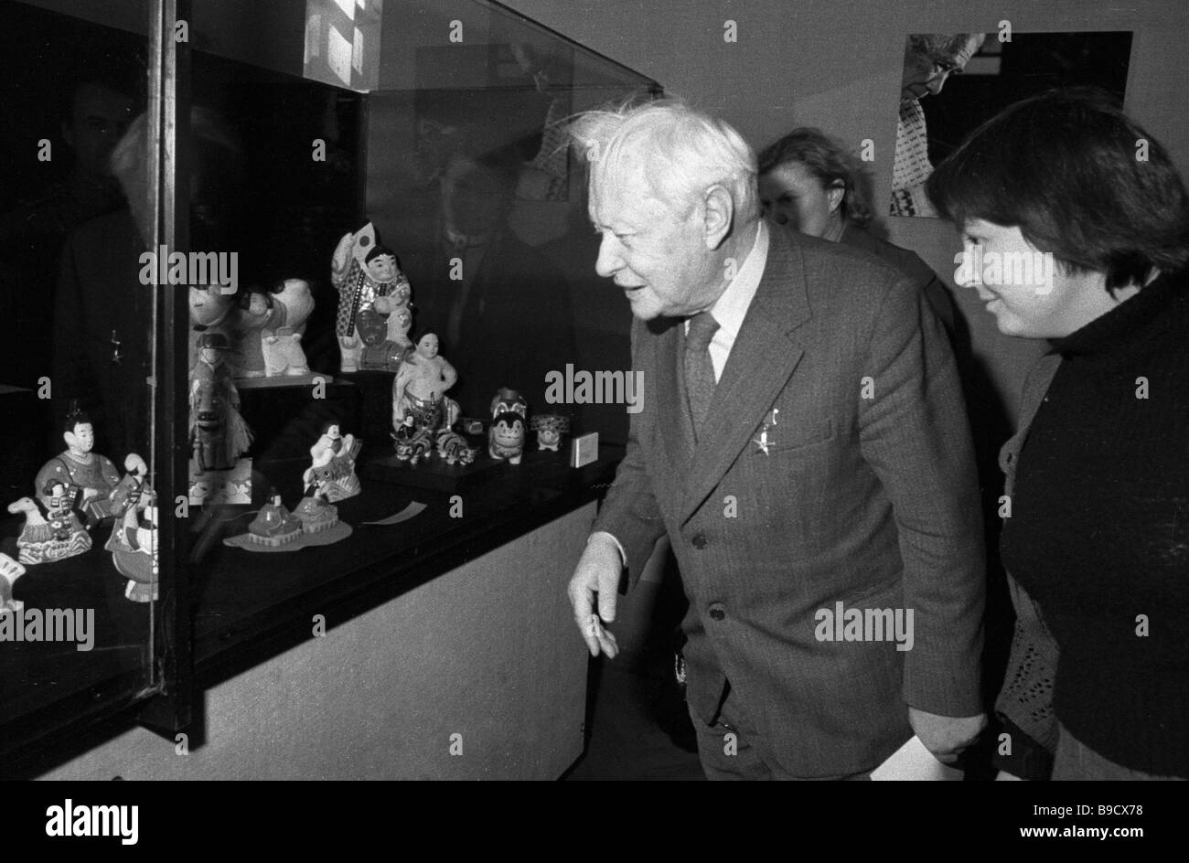 Sergei Obraztsov attends left exhibition The Dolls of Japan at the Oriental Art Museum - Stock Image